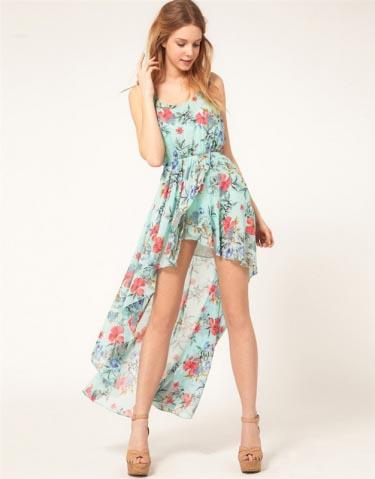 Летние платья с цветочным принтом