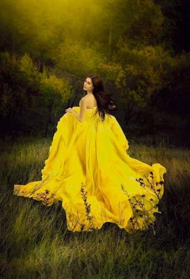 Желтый цвет в образе