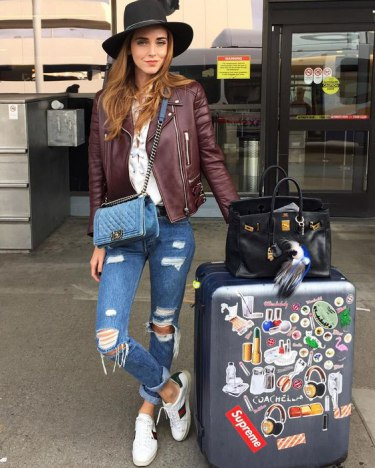 Модные блогеры, модный багаж