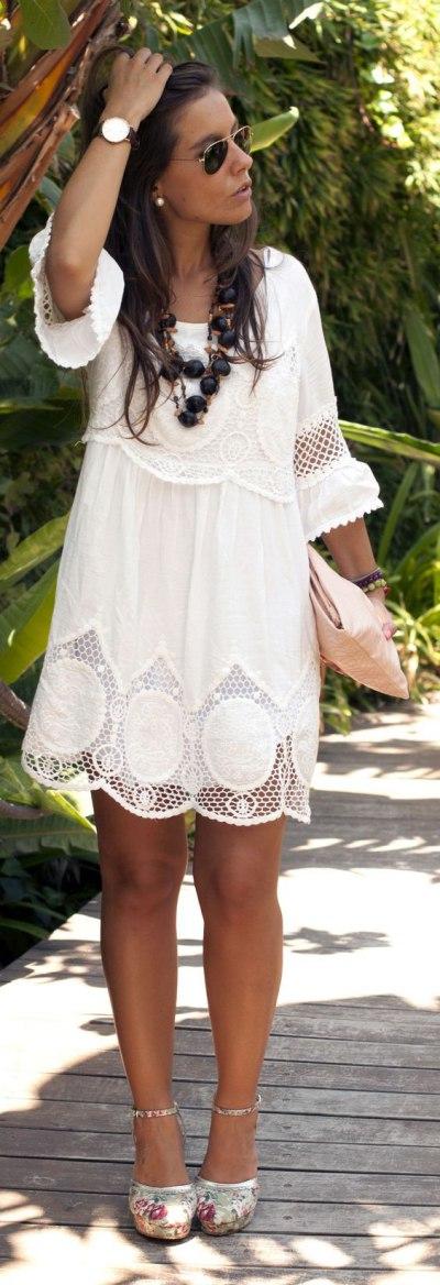 Белое платье на лето: идеальный вариант