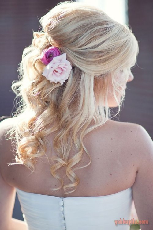 Фото свадебные прически из волос чуть ниже плеч
