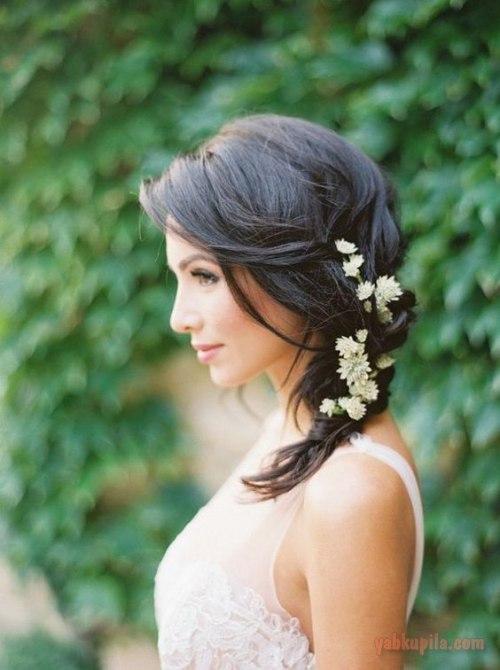 Садебные прически на средний волос