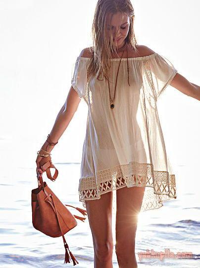 b977e0744526821 Пляжная туника – очень полезная вещь в летнем гардеробе. А на пляже ...