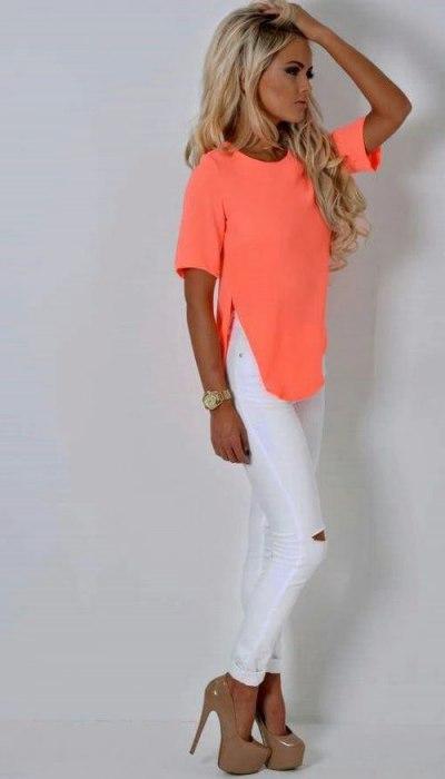 Белые джинсы – идеальны!
