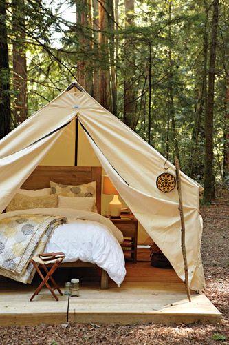 Ночуем на природе: уютные палатки