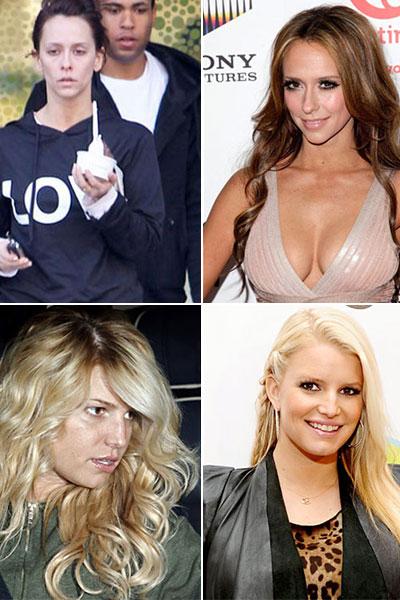 Знаменитости без макияжа. Шокирующие фотографии популярных знаменитостей