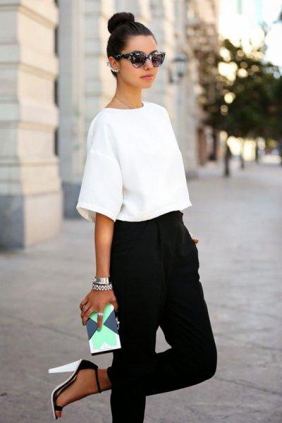 Модное сочетание черного и белого