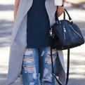 С чем носить пальто без рукавов? Фото с модными образами