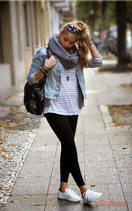 С чем носить леггинсы: фото с удачными сочетаниями