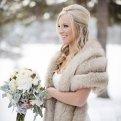 Накидка на свадебное платье: какую лучше выбрать для прохладного сезона