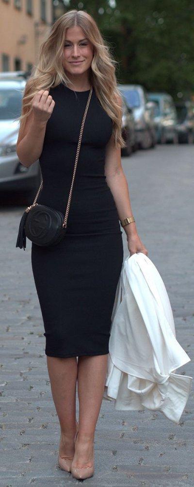 Офисное платье: 21 фото со стильными моделями!