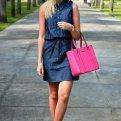 С чем носить джинсовое платье: фото и модные советы