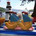 Вечеринка в морском стиле: декор, закуски, торты