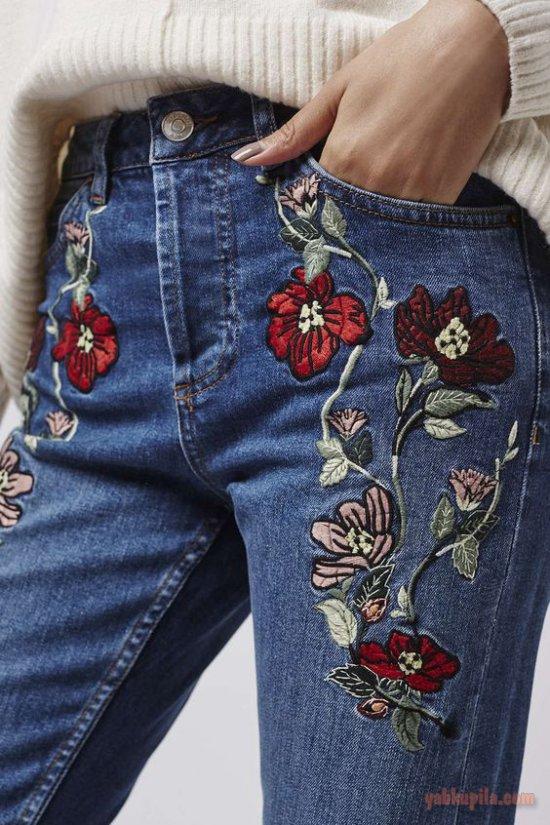 Вышивка на джинсах схемы фото 20