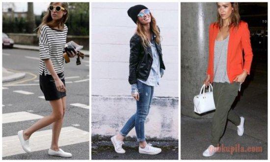 Как и с чем носить белую обувь