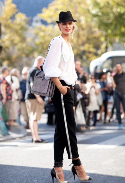 С чем носить брюки с лампасами: фото креативных образов