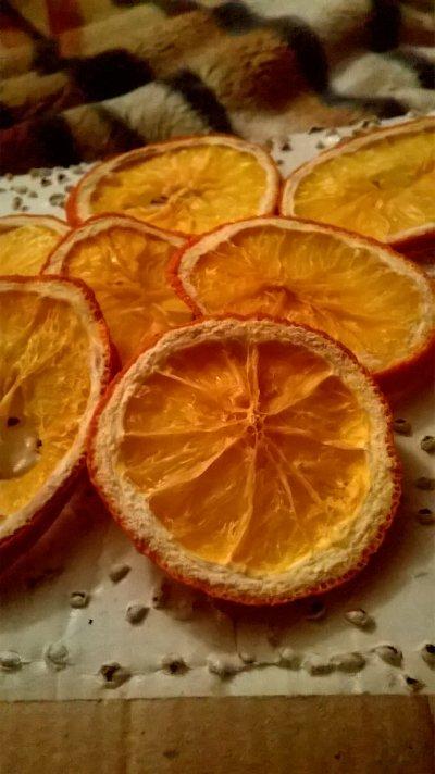 Декор - сушеные апельсины