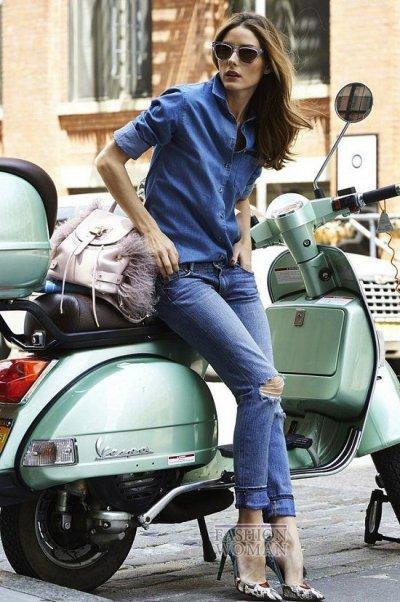 Как и с чем носить джинсовую рубашку (45 фото)