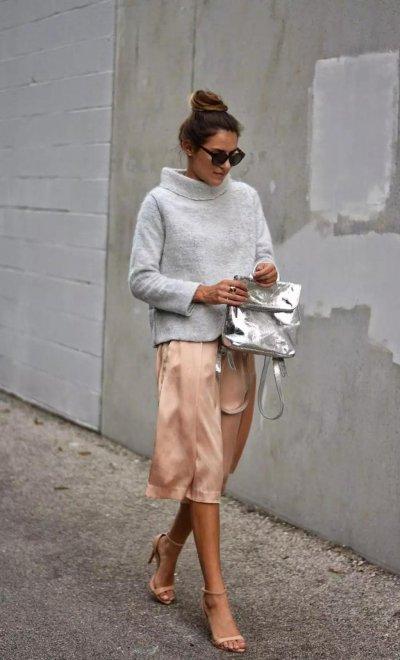 Атласная юбка: 20 самых стильных моделей